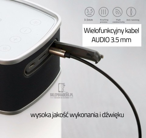 Kabel ROCK Audio mini-JACK 3,5mm Wtyk AUX TPE 2m