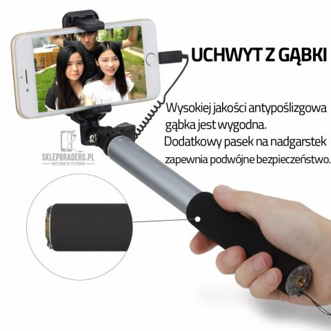 Selfie Stick ROCK Kijek Uchwyt iPhone 7/7 Plus
