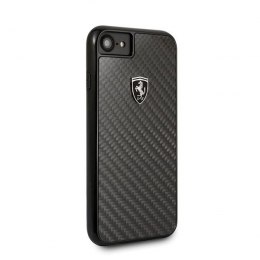 Etui Ferrari Hardcase do iPhone 7 / 8 czarny Carbon Heritage