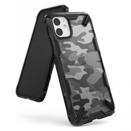 Etui pancerne z ramką do iPhone 11 czarny Camo Black