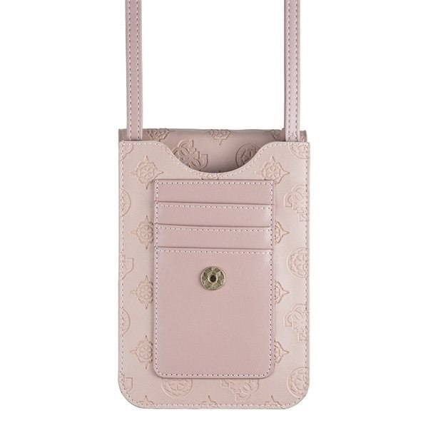 Guess Torebka jasnoróżowa / light pink 4G Peony Wallet Bag