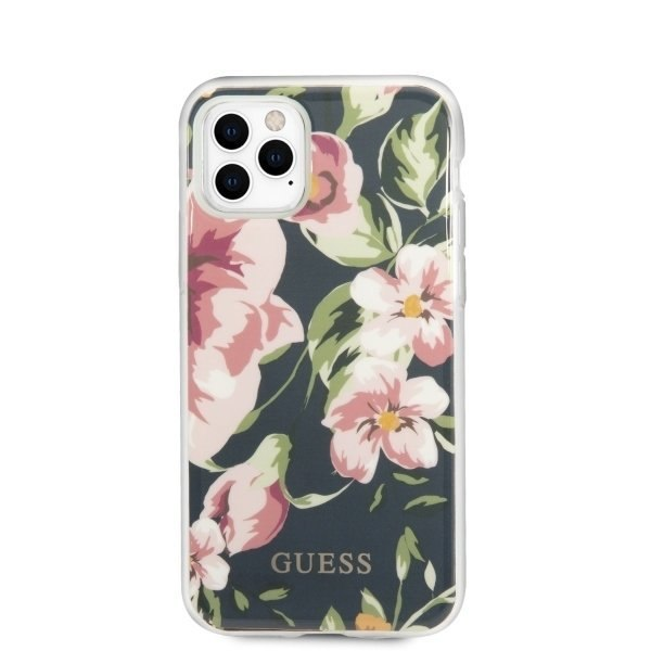 Etui Guess do iPhone 11 Pro granatowy/navy N°3 Flower Collection
