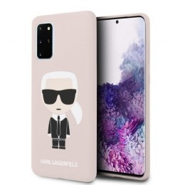 Etui Karl Lagerfeld do Samsung Galaxy S20+ Plus jasnoróżowy/light pink Silicone Iconic
