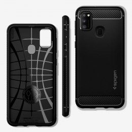 Etui Spigen Rugged Armor do Samsung Galaxy M21 czarny
