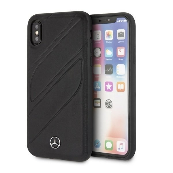 Etui Mercedes do iPhone X / Xs hard case czarny/black New Organic I