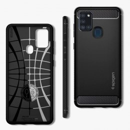 Etui Spigen Rugged Armor do Samsung Galaxy A21S czarny