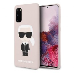 Etui Karl Lagerfeld do Samsung Galaxy S20 jasnoróżowy/light pink Silicone Iconic