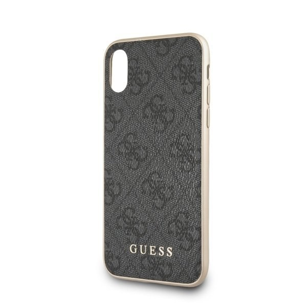 Etui Guess do iPhone X / Xs szary hard case 4G Collection