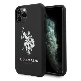 Etui US Polo do iPhone 11 Pro Max czarny/black Silicone Collection