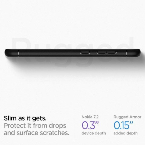 Etui Spigen Rugged Armor do Nokia 6.2 / Nokia 7.2 Matte Black