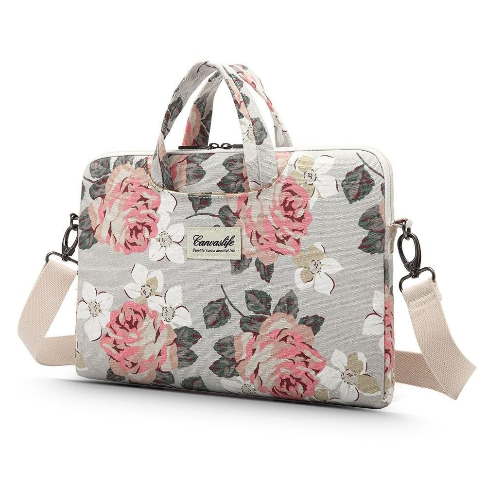 "Torba Na Laptopa 13-14"" Canvaslife Briefcase White Rose"