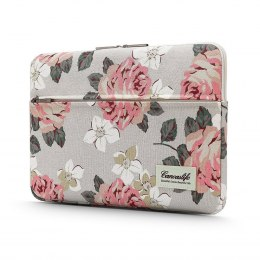 "Etui Pokrowiec do Laptopa 13-14"" Canvaslife Sleeve White Rose"