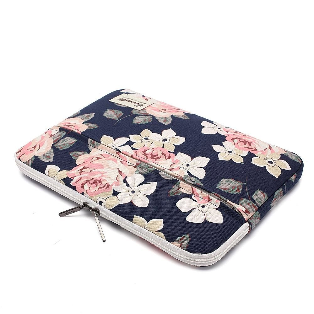 "Etui Pokrowiec do Laptopa 15-16"" Canvaslife Sleeve Navy Rose"