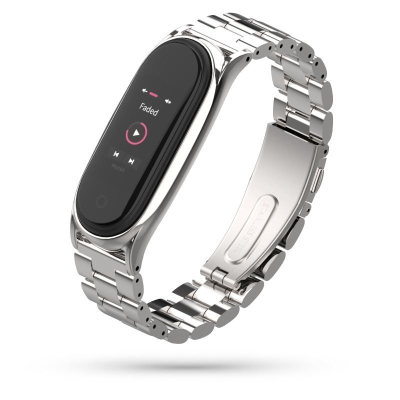 Bransoleta Stainless do Xiaomi Mi Band 5 srebrny