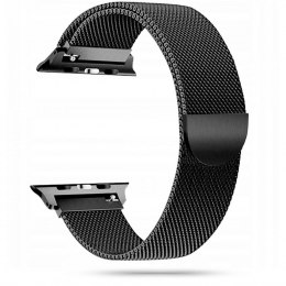 Pasek bransoleta Milanesband do Apple Watch 2 / 3 / 4 / 5 / 6 / SE (42/44MM) czarny