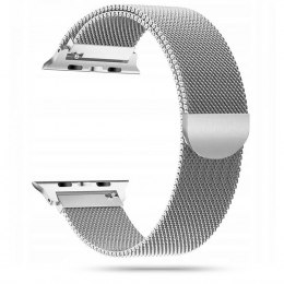 Pasek bransoleta Milaneseband do Apple Watch 2 / 3 / 4 / 5 / 6 / SE (42/44MM) srebrny