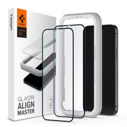 Szkło Hartowane Spigen Alm Glass Fc 2-pack do iPhone 12 Mini Black