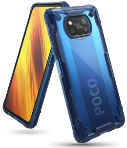 Etui Ringke Fusion X do Xiaomi Poco X3 NFC Space Blue
