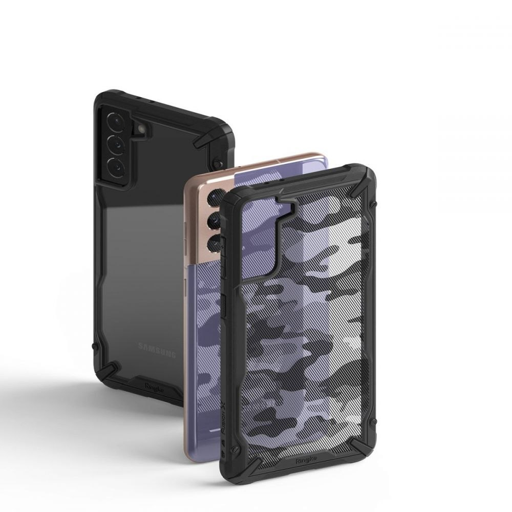 Etui Ringke Fusion X do Samsung Galaxy S21 Camo Black