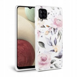 Etui Floral do Samsung Galaxy A12 White