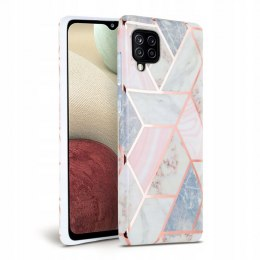 Etui Marble do Samsung Galaxy A12 Pink
