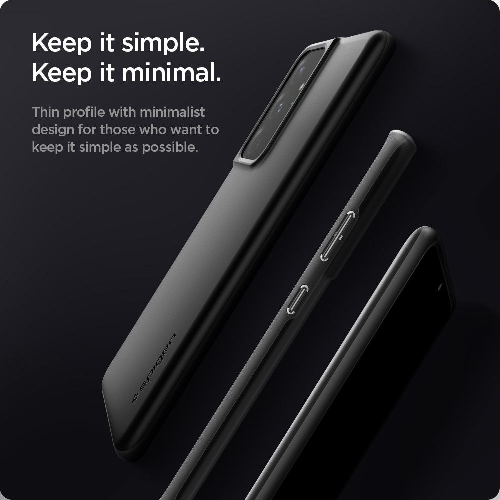 Etui Spigen Thin Fit do Samsung Galaxy S21 Ultra Black