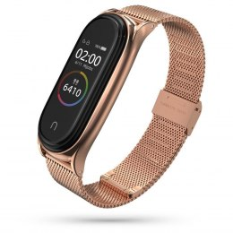 Bransoleta Milaneseband do Xiaomi Mi Band 5 / 6 Rose Gold