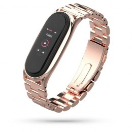 Bransoleta Stainless do Xiaomi Mi Band 5 / 6 Rose Gold