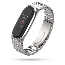 Bransoleta Stainless do Xiaomi Mi Band 5 / 6 Silver