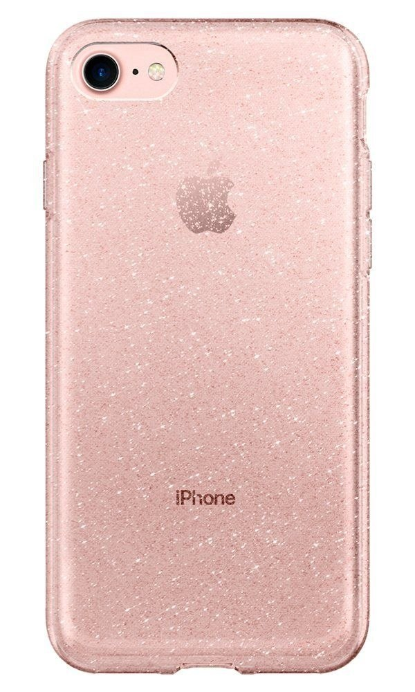 Etui Spigen Liquid Crystal Glitter do Iphone 7 / 8 różowy brokat