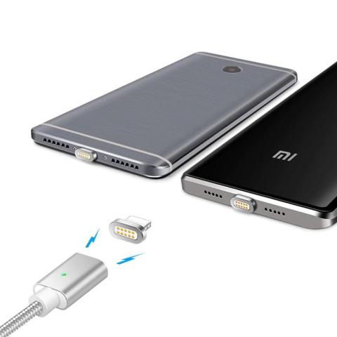 Kabel Magnetyczny 3w1 2 4a Micro Usb Iphone Typ C