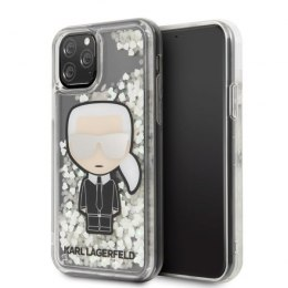 Etui Karl Lagerfeld do iPhone 11 Pro hardcase Ikonik Glitter Glow in the dark