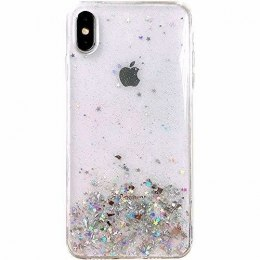Błyszczące etui z brokatem Star Glitter do iPhone 8 Plus / iPhone 7 Plus przezroczysty