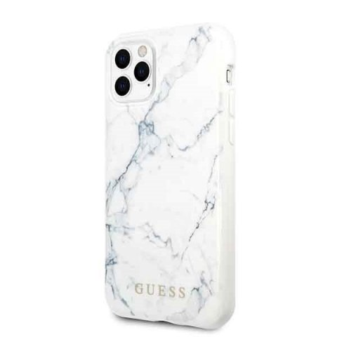 Oryginalne Etui Guess do iPhone 11 Pro biały Marble
