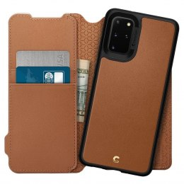 Etui Spigen Ciel Wallet Brick do Samsung Galaxy S20+ Plus brązowy