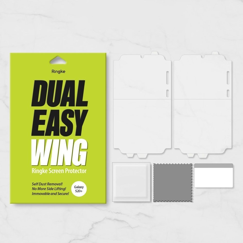 Folia na ekran i boki Ringke Dual Easy Wing 2x do Samsung Galaxy S20 Plus