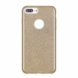 Błyszczące etui Glitter Case z brokatem do iPhone 8 Plus / iPhone 7 Plus złoty