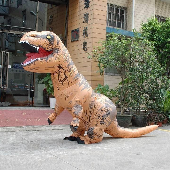dmuchany strój dinozaura